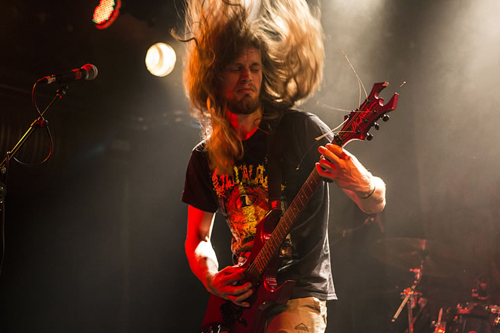 Bloodgod guitarist and vocalist Daan  - click to open as large image