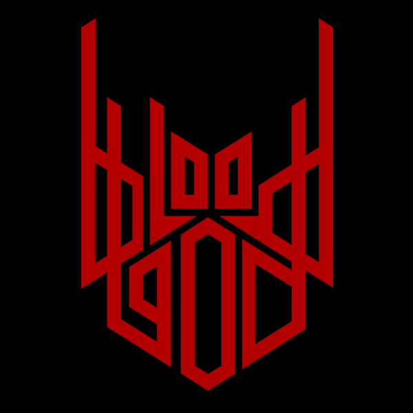 Bloodgod band logo, design by Mike Schoemaker  - click to open as large image with seperate layers